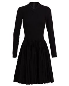 AZZEDINE ALAÏA | Plissé Soleil Pleated Stretch-knit Dress