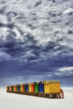 Beach Huts in Muizenberg, Cape Town. Muizenberg is a beach-side suburb of Cape Town, South Africa. by Mario Moreno Oh The Places You'll Go, Places To Travel, Beautiful World, Beautiful Places, Beautiful Beach, Magic Places, Knysna, Cape Town South Africa, Africa Travel