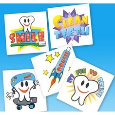 """2"""" DENTAL TATTOOS, Case of 30 ** Check out the image by visiting the link. (This is an affiliate link) #DressUpPretendPlay"""
