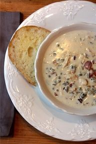 Chicken, bacon & wild rice soup...super yummy especially on a cold winters night!