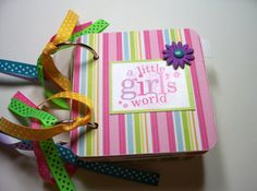 Girls Mini Album Chipboard Scrapbook Girls album by HampshireRose, $25.00
