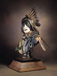 Crow King (Lifesize Bust) by Dave McGary