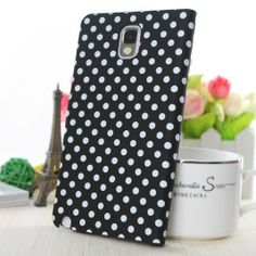 Cute Polka Dot Leather Flip Cover Case For Samsung Galaxy Note 3.