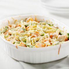 Recette Gratin de pâtes, carottes et haricots verts (facile, rapide)