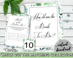 How Old Was The Bride To Be Bridal Shower How Old Was The Bride To Be Botanic Watercolor Bridal Shower How Old Was The Bride To Be 1LIZN #bridalshower #bride-to-be #bridetobe