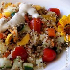 Salada fria de Quinoa com Molho de Natas e Iogurte