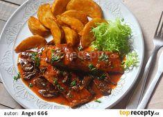 Kapr na pacovský způsob recept - TopRecepty.cz No Salt Recipes, Chicken Wings, Thai Red Curry, Ethnic Recipes, Diet, Buffalo Wings