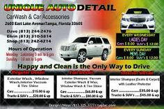 Car Detail Flyer Template Free Google Search