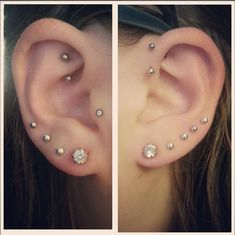 Ear piercings - definitely getting one of the upper ones done soon.