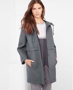 Oversize neoprene coat gris - verisson