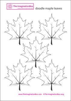 doodle maple leaf free printable