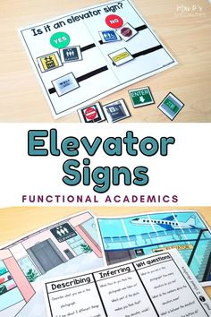 Teaching students where they will see community signs such as the elevator sign is a critical part of making social studies functional. We need to explicitly teach students what community & safety signs mean in the places that they will see them. Use this adapted social studies unit to teach students what community signs mean, where they will see it while targeting SS standards & language skills such as yes or no, WH questions, comprehension, describing & inferring. Click to grab it now! Writing Lesson Plans, Writing Lessons, Lesson Planning, Autism Classroom, Special Education Classroom, Classroom Resources, Teaching Social Studies, Student Teaching, Math Skills