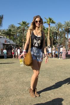 On the grounds at Coachella.
