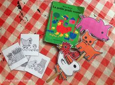 sac à album : La petite poule rousse