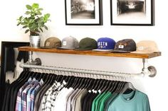 Whether you're an individual, or a store owner, this article will show you how to build these beautiful wall mounted clothing racks.