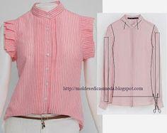 Moda e Dicas de Costura: RECICLAGEM DE CAMISAS E T-SHIRTS - 4