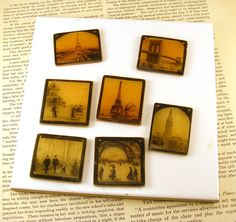 Image transfers on translucent polymer clay covered with resin?