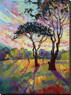 California Sky (bottom left) Stretched Canvas Print by Erin Hanson at Art.com