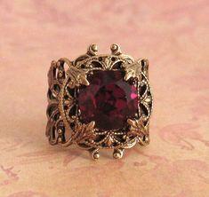 Ruby stone rings - Ruby stone rings La mejor imagen sobre healthy eating para tu gusto Estás buscando algo y no has p - Garnet Jewelry, Jewelry Rings, Silver Jewelry, Jewelry Accessories, Jewelry Design, Garnet Rings, Jewellery, Ruby Stone, Antique Jewelry