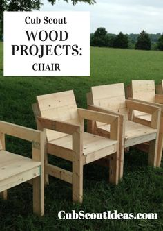 Your Cub Scouts can build some awesome wood projects!  Download your free plans for a chair here.