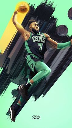 Jaylen Brown wallpaper - My Wallpaper Celtics Basketball, Basketball Posters, Basketball Is Life, Basketball Legends, Basketball Tickets, Basketball Design, Basketball Hoop, Cool Basketball Pictures, Nba Pictures