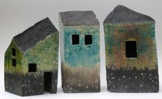 Raku houses by Marike Hoekstra