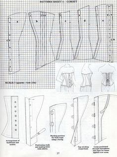 Period Costume for Stage & Screen Jean Hunnisett: Corsets & Constructi. Corset Sewing Pattern, Bra Pattern, Pattern Drafting, Corset Costumes, Period Costumes, Historical Costume, Historical Clothing, Clothing Patterns, Sewing Patterns