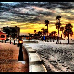 Instagram Photo Of Clearwater Beach Beachwalk At Sunset Tampa Bay Area