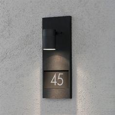 Modena Black House Number Light