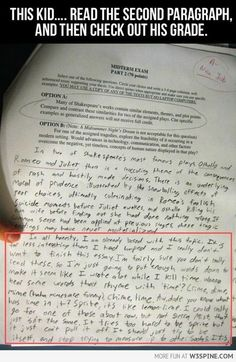 This kid took my essay?