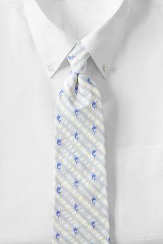Men's Seersucker Marlin Necktie from Lands' End