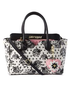 96c9ad724 Betsey Johnson® Black & White Floral Satchel & Pink Quilted Pouch. Betsy  Johnson PursesBetsey ...