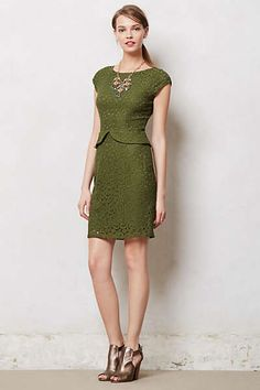 Anthropologie - Belcourt Column Dress love this color