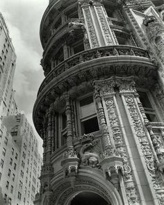 Happy Birthday Berenice Abbott🎈 Born on this Day July 1898 - December 1991 . Berenice Abbott (American, Daily News Building, November Gelatin silver photograph, 9 x 8 in. Berenice Abbott, New York Architecture, Architecture Details, Architecture Images, Charles Quint, Misty Night, Vertical City, Ville New York, Les Continents
