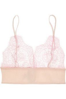 Rosamosario Amore Senza Confini Chantilly lace soft-cup bra | NET-A-PORTER