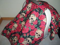 20 OFF Use code 20OFF Skull & Rose with Gray by LillyBellsBowtique, $40.00