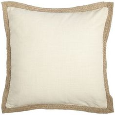 Jute Trim Pillow - Ivory Inspiration for burlap and banding ordered