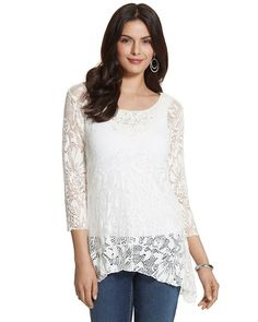 Chico's Willow Lace Top #chicos