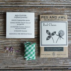 Red Clover Botanical Necklace by Peg and Awl by PegandAwl on Etsy