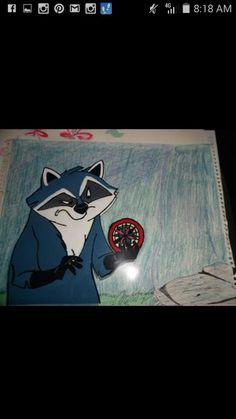 Meeko hand painted cel