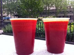 Sunrise Juice – This simple and sweet juice is called the Sunrise juice because it is a great way to start the day!  The vibrant red color lets you know that the juice is packed with nutrients such as Beta Carotene & Vitamin C, and the sweet, tangy taste makes it really enjoyable as well.