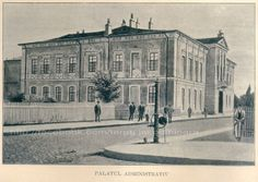 Targu Jiu - Palatul Administrativ (actualul muzeu judetean ) inainte de 1900 Louvre, Building, Travel, Viajes, Buildings, Destinations, Traveling, Trips, Construction