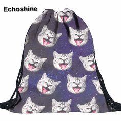 $2.81 (Buy here: https://alitems.com/g/1e8d114494ebda23ff8b16525dc3e8/?i=5&ulp=https%3A%2F%2Fwww.aliexpress.com%2Fitem%2F2016-hot-sale-3D-digital-printing-galaxy-grey-cat-drawstring-backpack-blue-polyester-drawstring-bag-on%2F32762198628.html ) 2016 hot sale 3D digital printing galaxy grey cat drawstring backpack blue polyester drawstring bag on sale  gift wholesale  for just $2.81