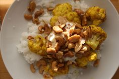 Fcurried cauliflower w sauteed cashews & shallots. a favorite!