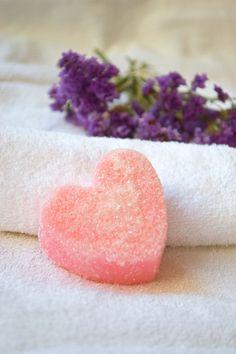 Soaps – Sugar Scrub soap Heart Rose oil solid scrub – a unique product by bytckkatya on DaWanda