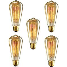 5pcs+st64+e27+40W+лампы+накаливания+старинных+Эдисона+лампочки+для+ресторана+клуба+кофеен+света+(220-240)+–+RUB+p.+1+210,61