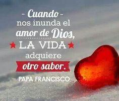 Papa Francisco. Catholic Religion, Catholic Quotes, Papa Francisco Frases, Religion Quotes, Pope Francis, Spanish Quotes, God Is Good, Word Of God, Gods Love