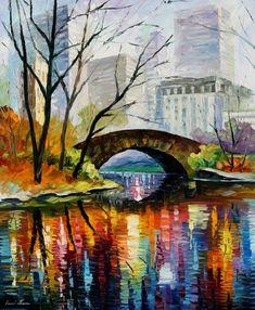Central Park - oil by Leonid Afremov - http://fineartamerica.com/featured/central-park-leonid-afremov.html