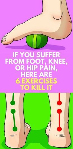 If You Suffer From Foot, Knee, or Hip Pain, Here Are 6 Exercises to Kill It !!!