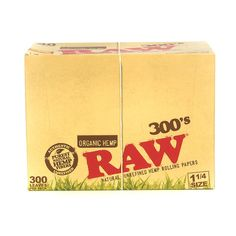 """Raw Organic 1 1/4"""" 300 Rolling Papers"""